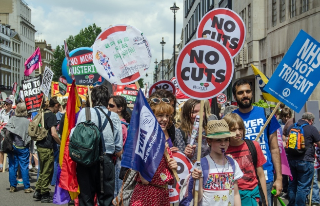 Anti-Government protest, London
