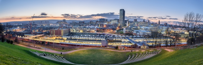 Panoramic view of Sheffield
